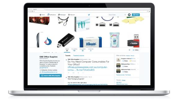 Twitter Office Supplies Express