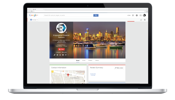 Google Plus Empowered Financial Partners